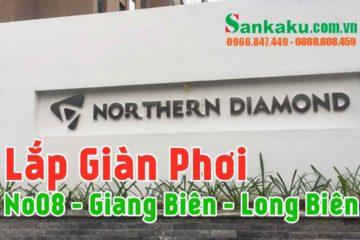 Lắp giàn phơi Sankaku căn 602 Northern Diamond Long Biên