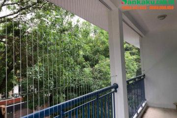 Lắp đặt lưới an toàn ban công Sankaku tại trường mầm non Bình Minh